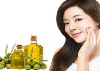 dưỡng da mặt bằng tinh dầu oliu